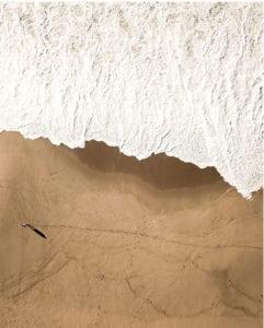Αφίσα κύματος στην παραλία