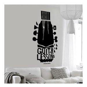 Αυτοκόλλητο τοίχου κιθάρα