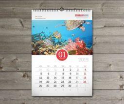 Εκτύπωση Ημερολογίων Τοίχου με σπιράλ μεταλλικό