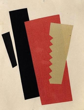 Πίνακας σε καμβά Lyubov Popova - Composition (Red-Black-Gold) 1920
