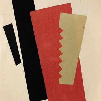 Πίνακας σε καμβά Lyubov Popova - Composition (Red-Black-Gold) 1920