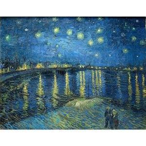 Πίνακας σε καμβά του Vincent Van Goch Stary Night over the Rhone